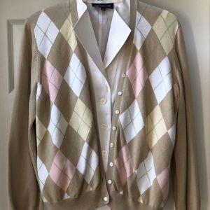 Brooks Brothers Sweaters - Brooks Brothers argyle cardigan sweater. Size L